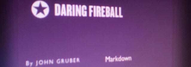 Daring Fireball Creator Of Markdown