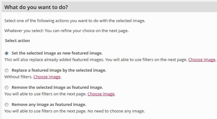 Choose Links Don't Work