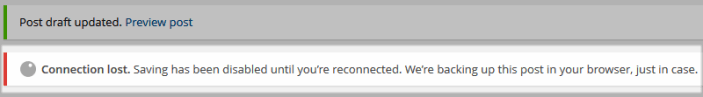 WordPress Connection Lost