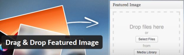 Drag and Drop Featured Image Header