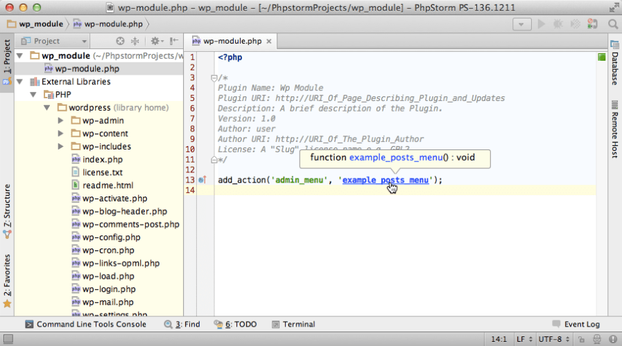 PhpStorm 8 To Add Official Support for WordPress