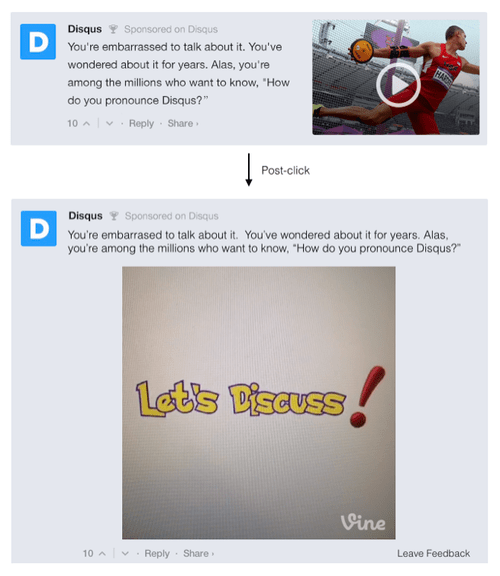 Disqus Sponsored Comments
