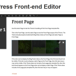 WordPress Front-end Editor