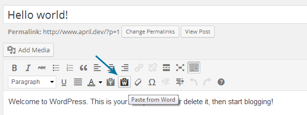 WordPress 3 9 Has Built-in Support for Pasting from