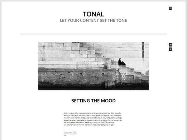 10 Free Ultra Minimalist WordPress Themes – WordPress Tavern