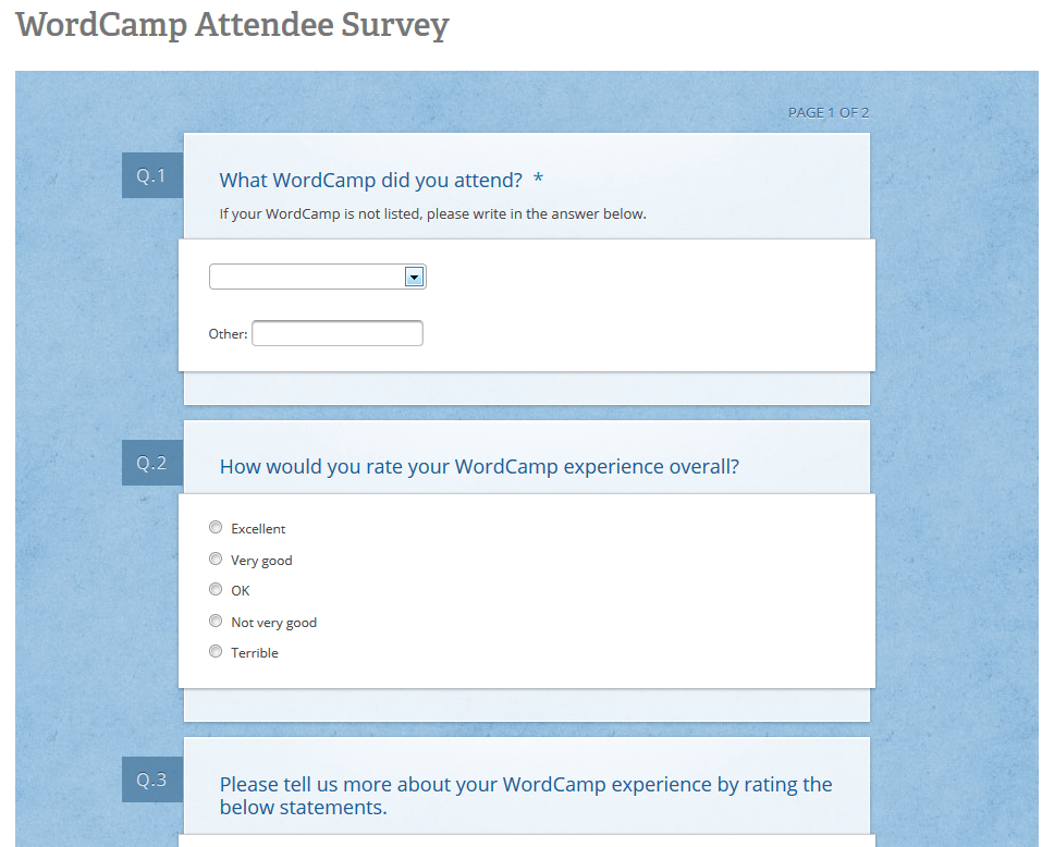Proposed Survey Questions