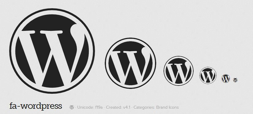 Font Awesome Finally Adds WordPress Icon in 4.1 Release