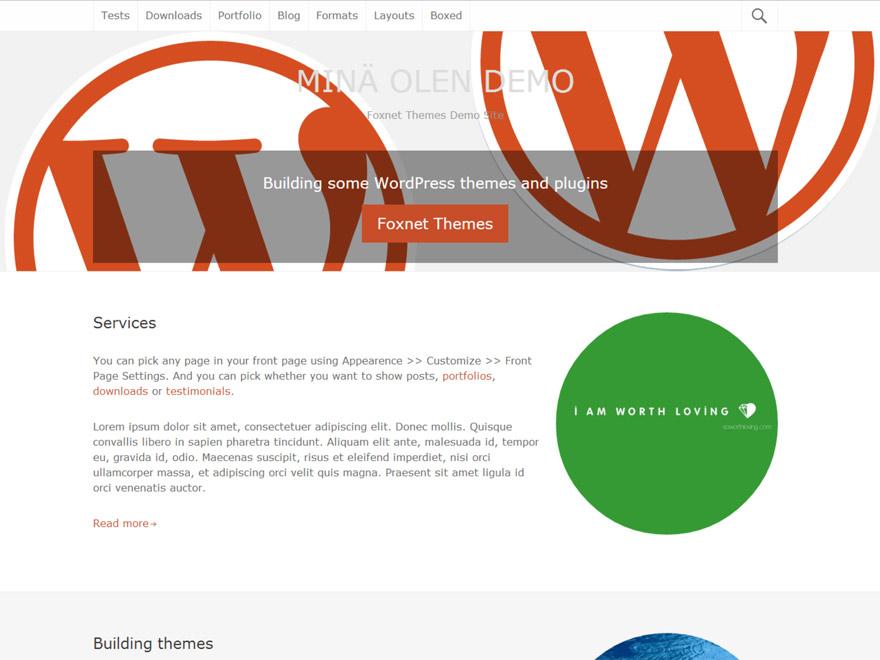 Mina Olen WordPress Theme