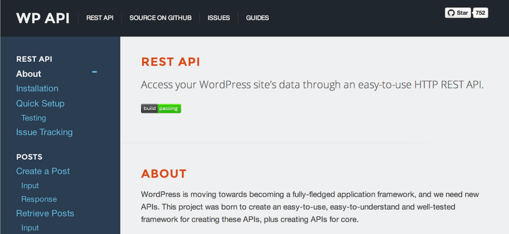 WordPress API Documentation