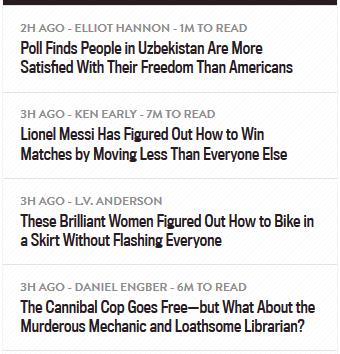 Estimated Reading Times On Slate.com