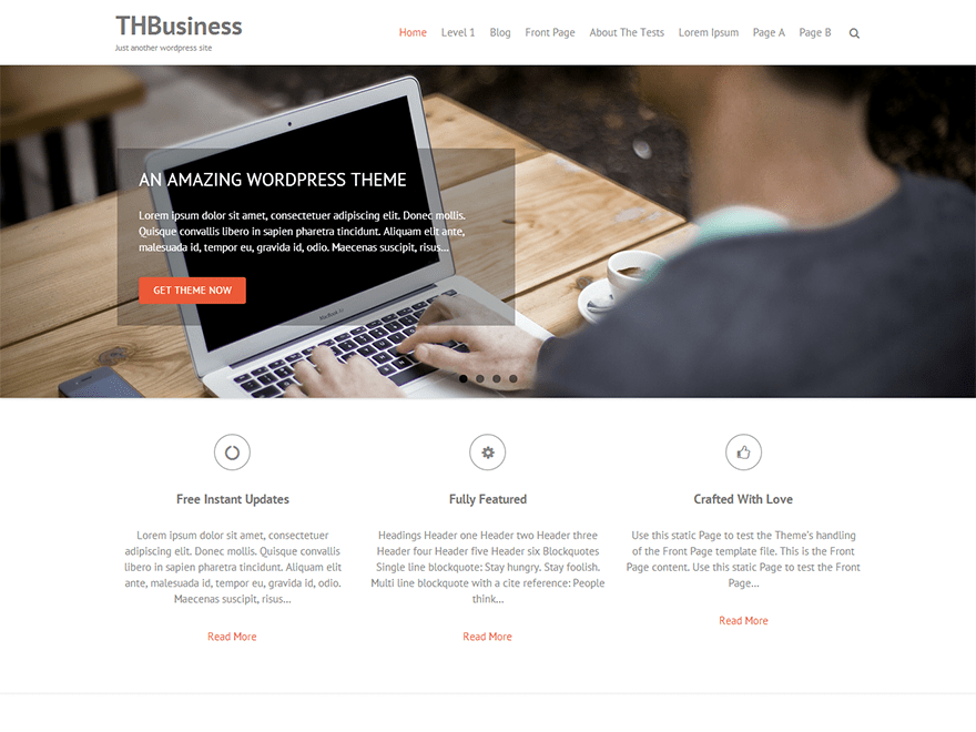 THBusiness: A Free WordPress Business Theme Based on Bootstrap ...