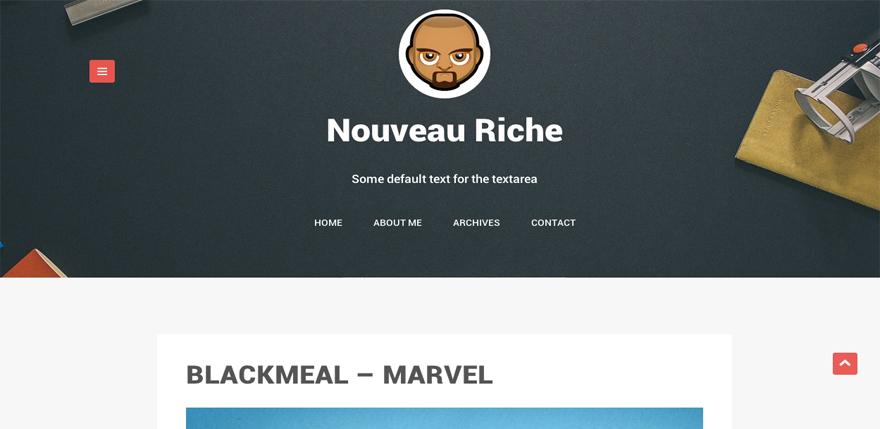 Nouveau Riche: A Free WordPress Blogging Theme for Creative Minds