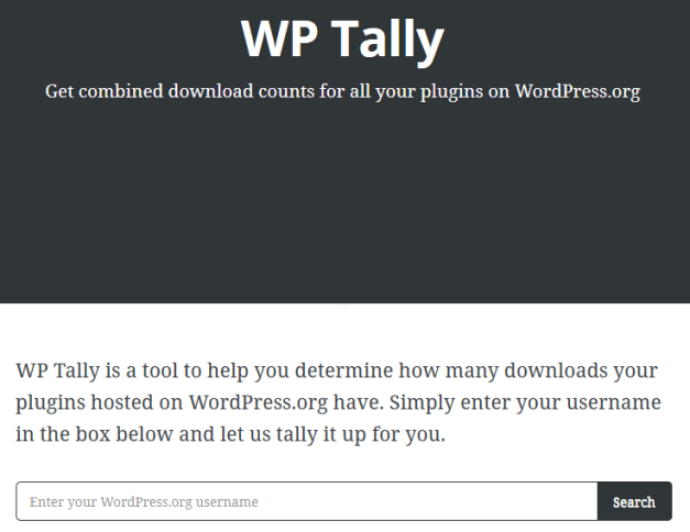 WP Tally Home Page