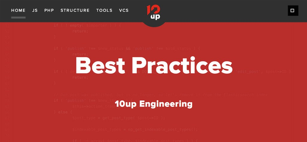 10up Open Sources Its Engineering Best Practices
