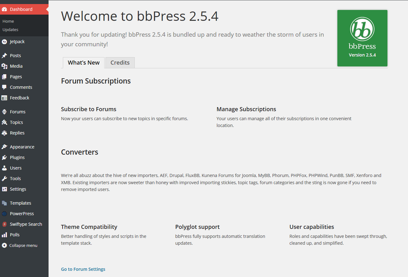 a new user s experience installing and using bbpress wordpress tavern rh wptavern com GoPro User Forum User- Experience
