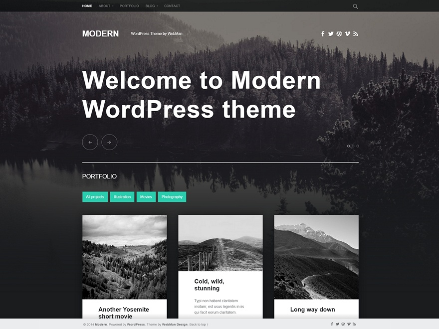 Modern: A Beautiful Free Blog and Portfolio Theme for WordPress ...
