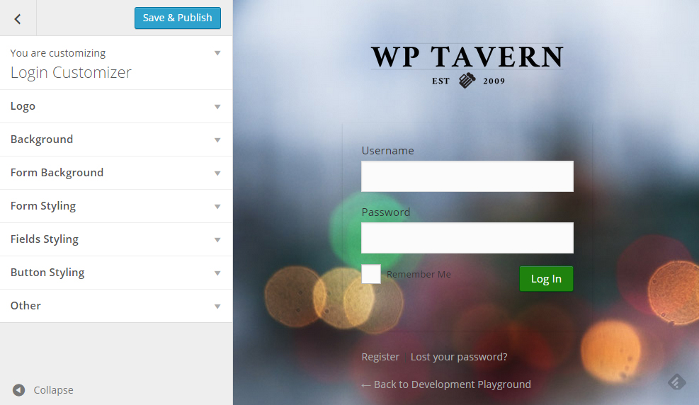 Customize Your Login Page Using the WordPress Customizer