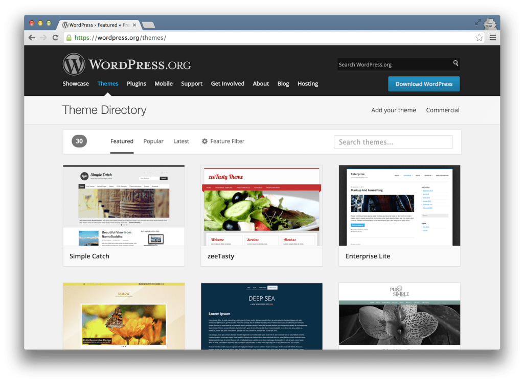 wordpress-theme-directory