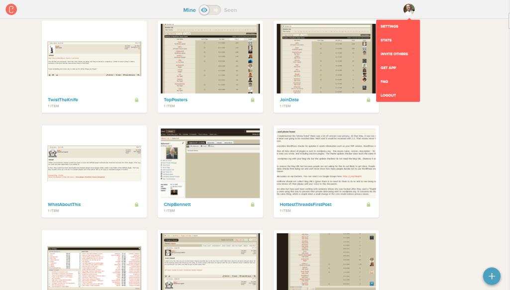 CloudUp Dashboard Web Interface