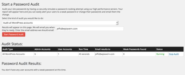 WordFence Password Auditing