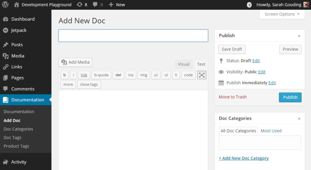 WordPress Plugin for Documenting Products