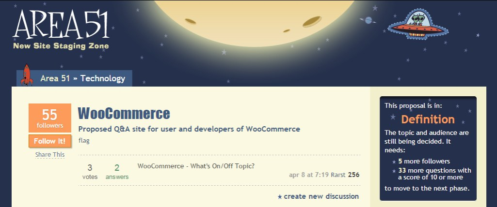StackExchange is Testing a Proposed Q&A Site for WooCommerce
