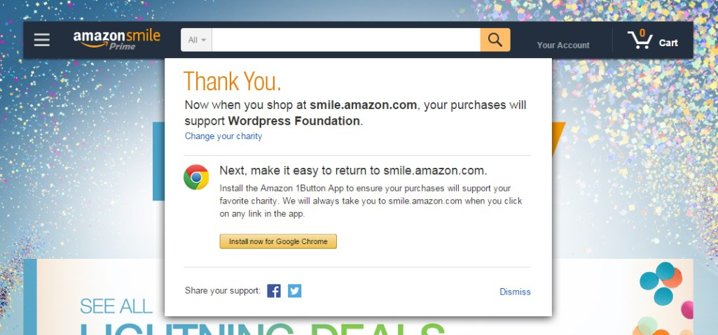 How to Give Back to the WordPress Foundation when Shopping on Amazon