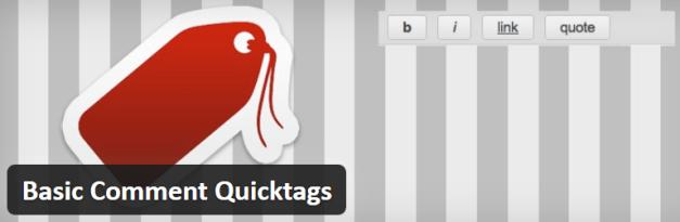 Basic Comment Quicktag Plugin Banner