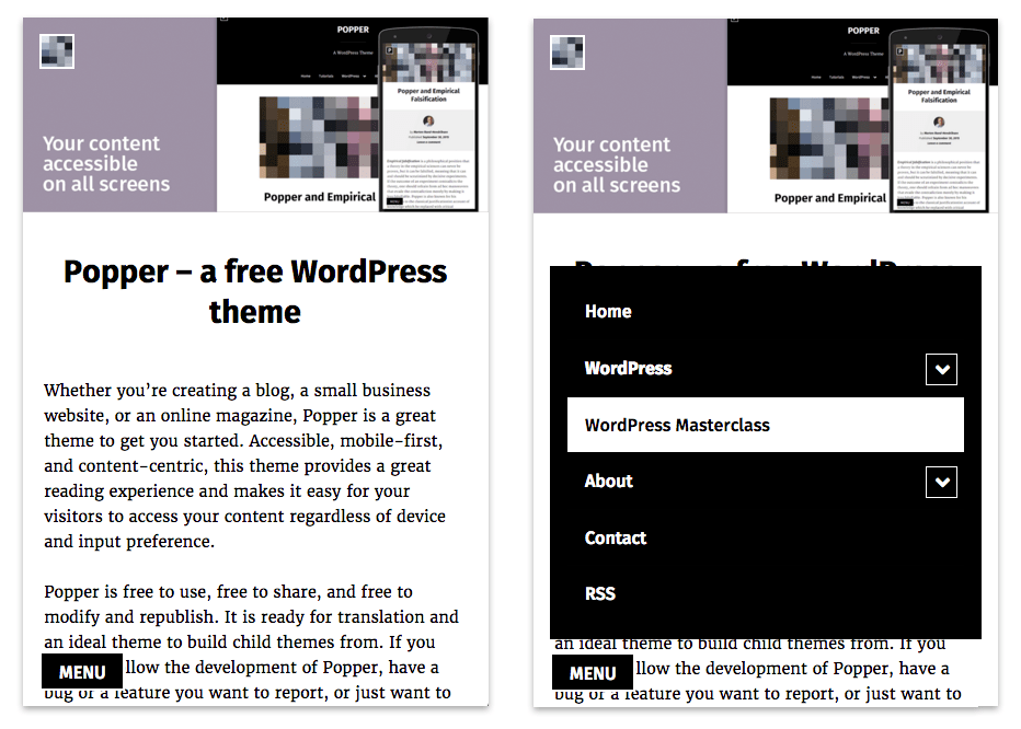 Popper: A Free Touch-Friendly WordPress Theme with a Focus on ...