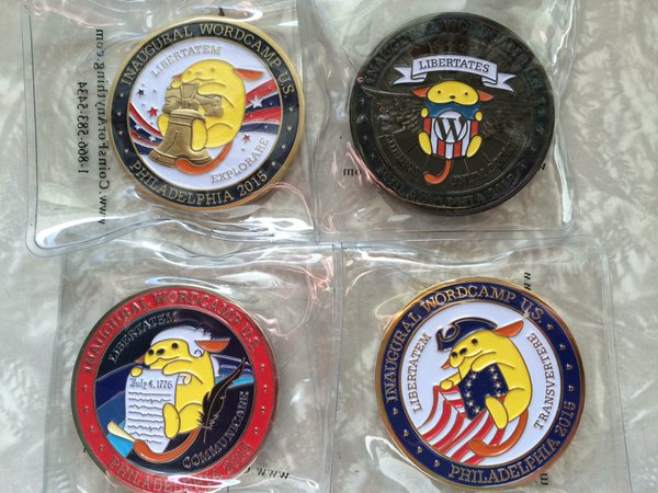WordCamp US Challenge Coins