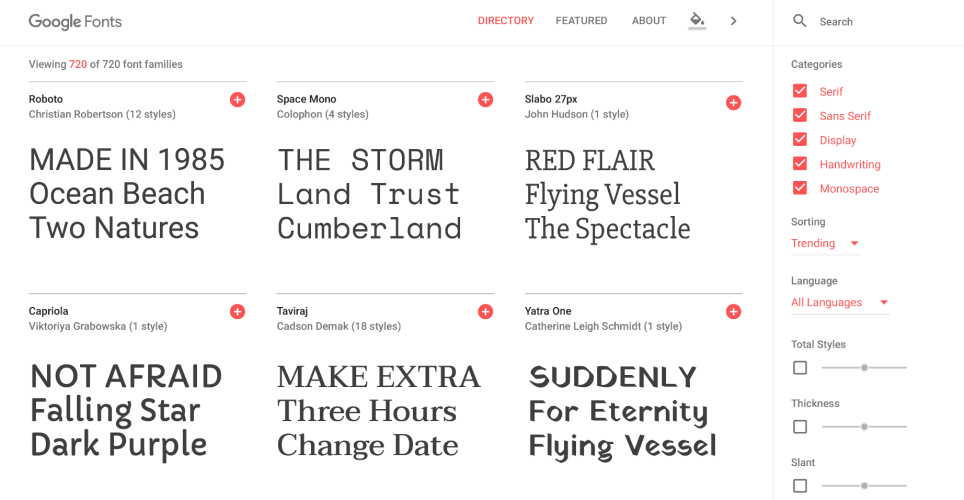 Google Fonts Gets a Redesign