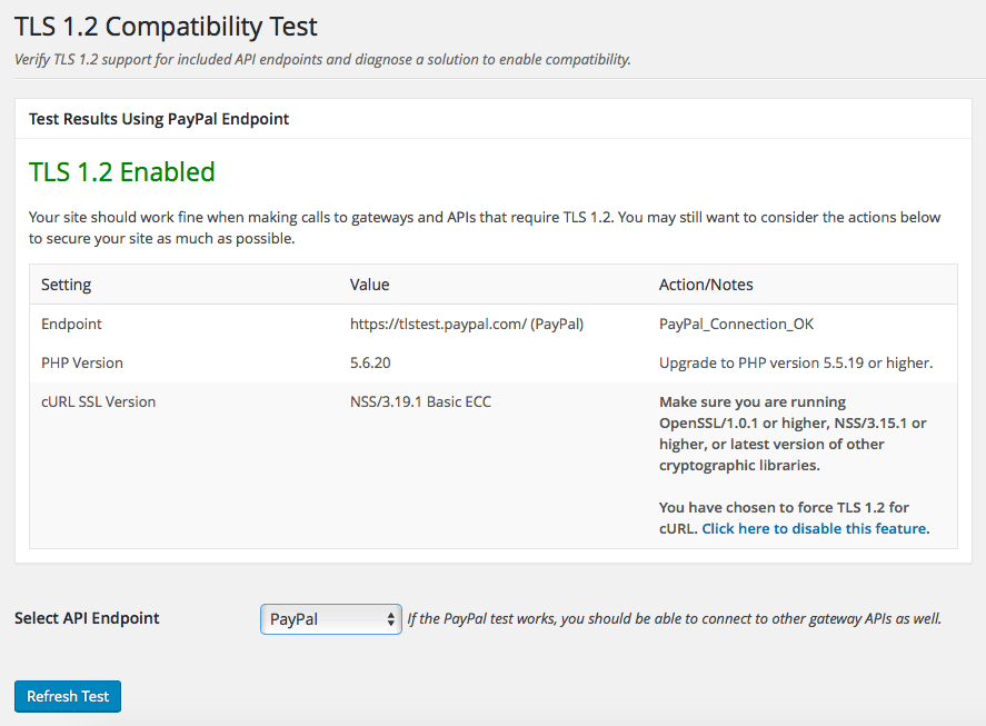 New WordPress Plugin Tests for TLS 1 2 Compatibility