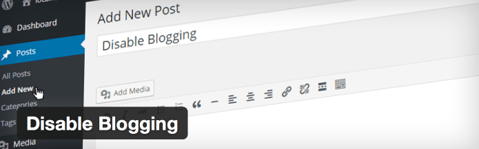 Easily Hide WordPress' Blogging Features With the Disable Blogging Plugin