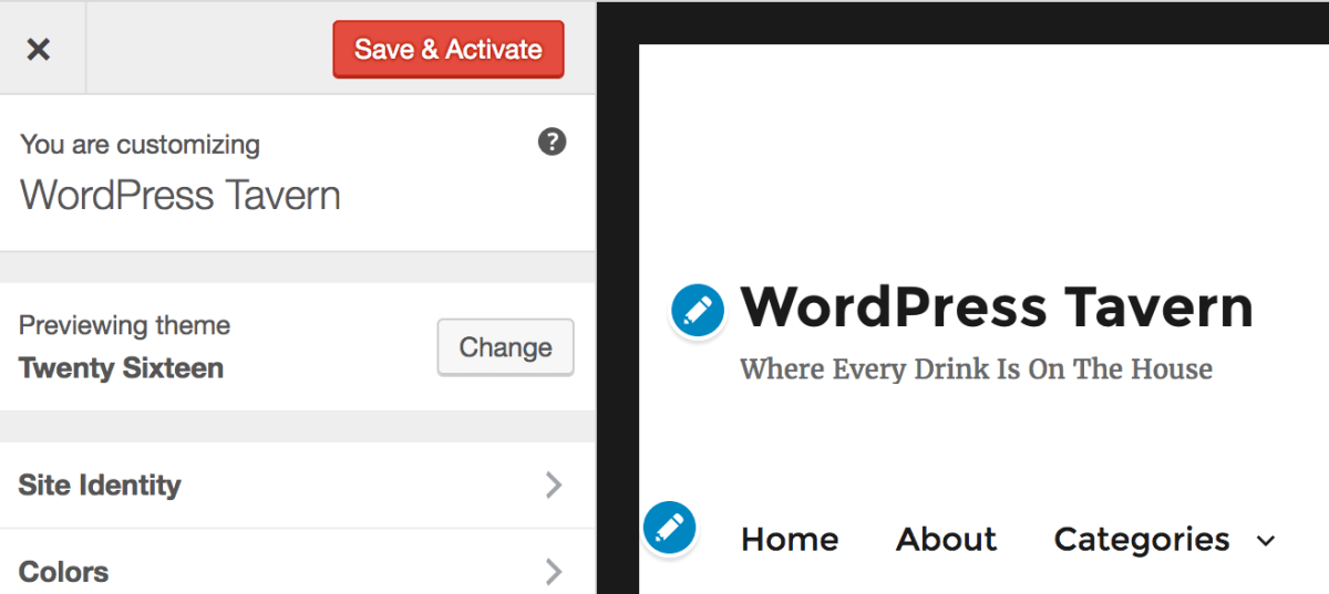 Two Distinct Approaches Aimed at Making Site Customization in WordPress Easier