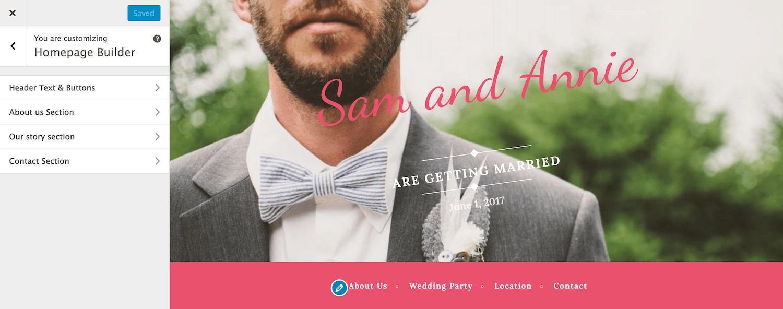 Wedding Bride A Free One Page Wordpress Wedding Theme Wordpress