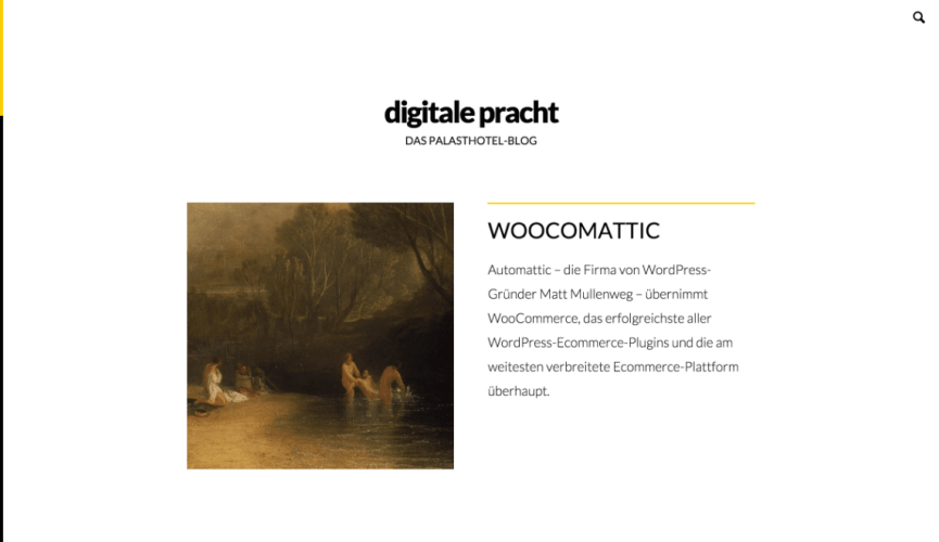 digitale Pracht: A Minimalist Blogging Theme for WordPress