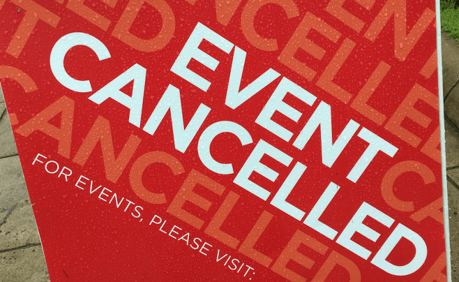 Event Cancelled Poster