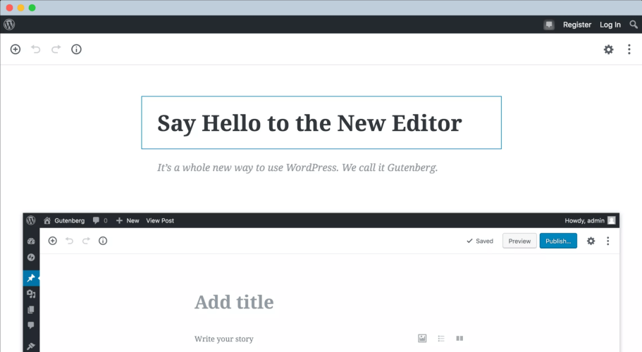 Official Gutenberg Information Site Updated with Interactive Frontend Demo