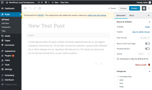 distributor-gutenberg Distributor Plugin Now Publicly Available, Adds Gutenberg Support design tips