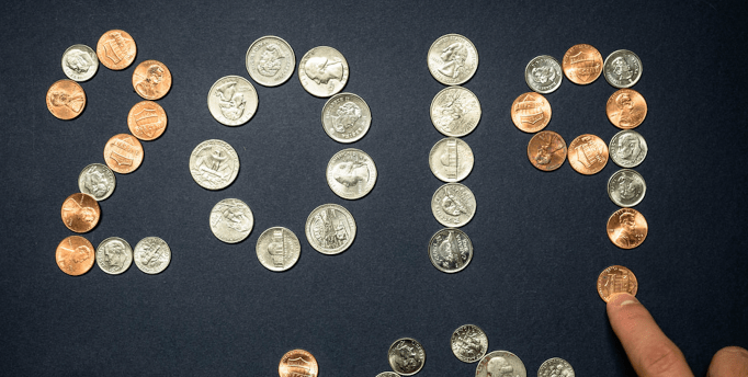 2019 Spelled Out Using Coins