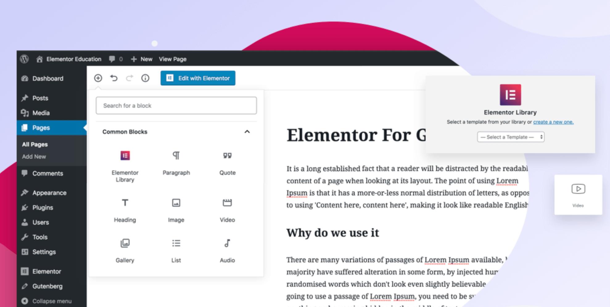 New Plugin Adds Elementor Templates as Gutenberg Blocks
