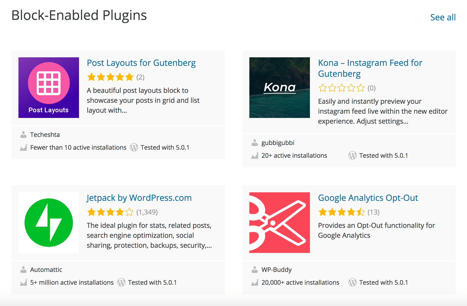 WordPress Plugin Directory Now Features a Curated Section for Block
