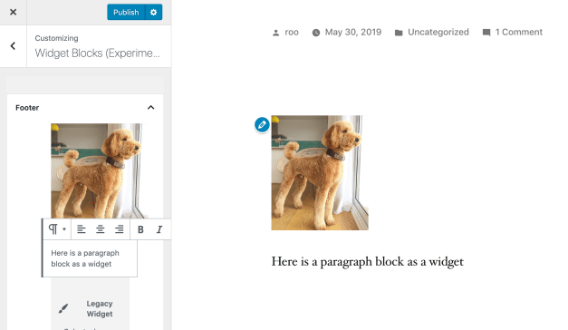 Screen-Shot-2019-07-10-at-12.27.28-PM Gutenberg 6.1 Introduces Animation to Block Moving Actions, Adds Block-Based Widgets Screen Experiments design tips  News|gutenberg