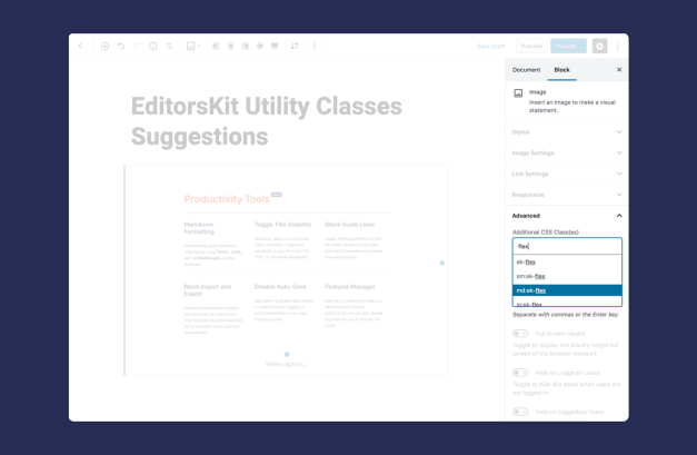 utility-classes EditorsKit 1.9 Introduces Block Styles, Utility Classes, and Full Height Editor Screen design tips  News|editorskit