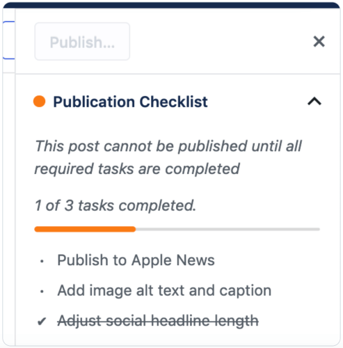 Human Made Releases Publication Checklist Plugin Designed for the Block Editor 1