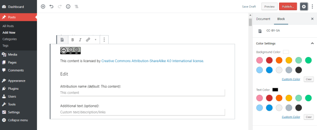Creative Commons Releases New WordPress Plugin for Attributing Content with Gutenberg Blocks 2