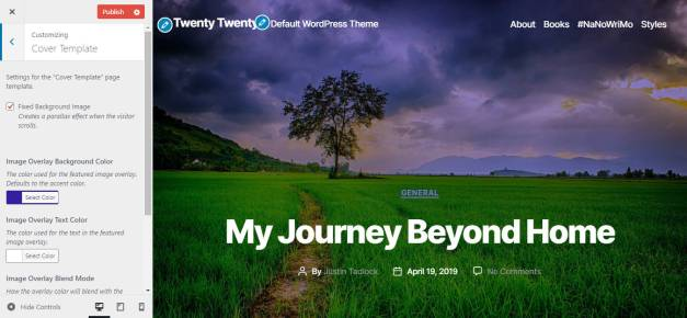 twenty-cover Twenty Twenty Bundled in Core, Beta Features Overview design tips  News|Themes|Twenty Twenty