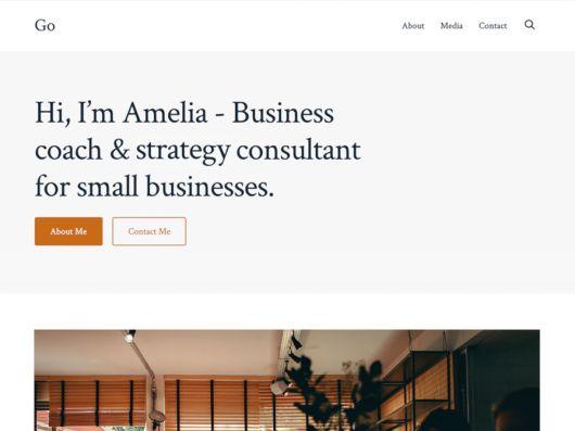 Screenshot of the Go WordPress theme.