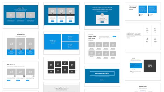 Screenshot of the Gutenberg Hub block templates library.