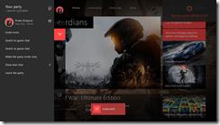 Xbox Dashboard of  Party Utilizing Cortana